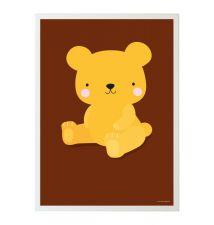 Poster salted caramel bear