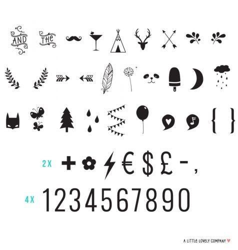 Lightbox letter set: Numbers & symbols