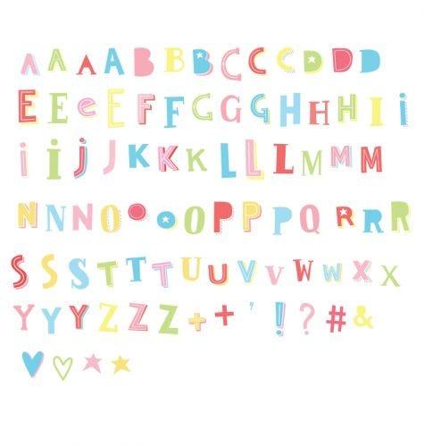 Lightbox letter set: Funky - colour