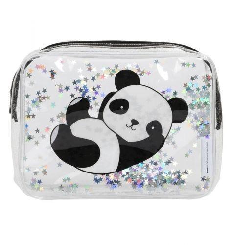 Toiletry bag: Glitter - panda