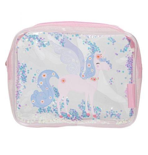 Toiletry bag: Glitter - unicorn